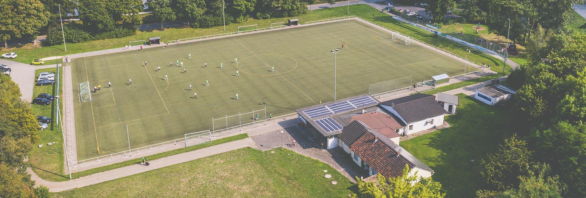 Sportplatz Drohne