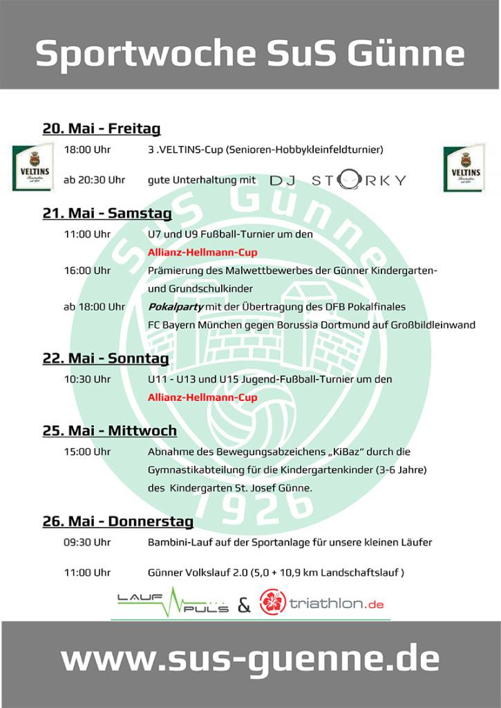 Sportwoche SuS Günne_Plakat_2016